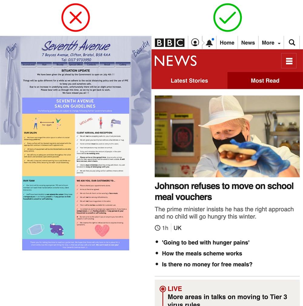 Mobile-friendly website verses unoptimised desktop website