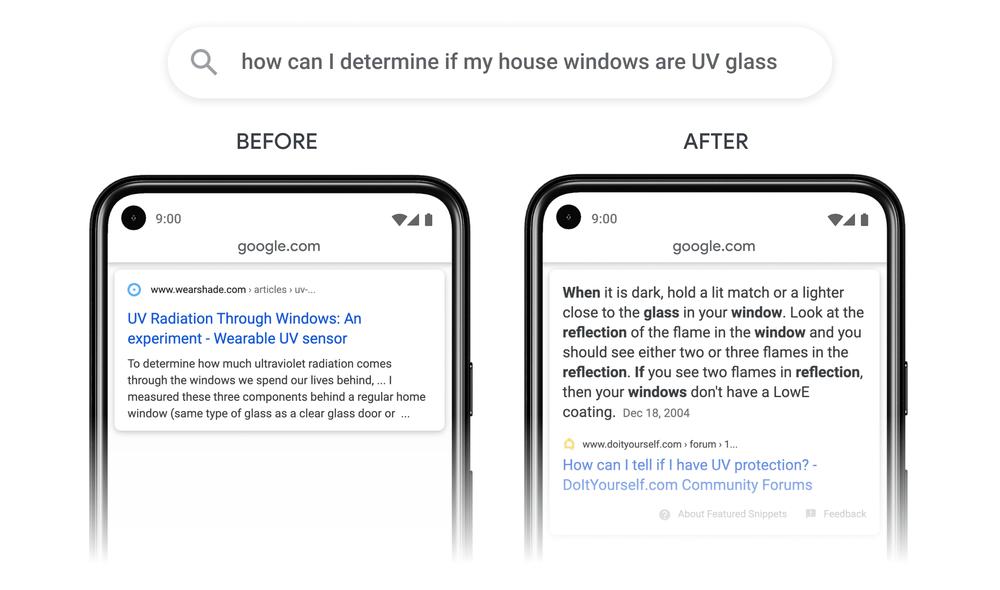 Google passage update example